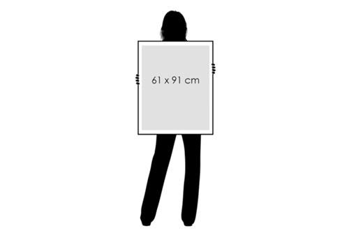 Rahmen klassisch 61 x 91 cm Holz schwarz Mapify