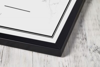Frame classic 12x12 inch wood black Mapify